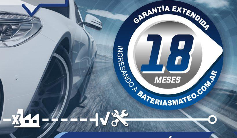 Garantia de 18 meses en bateria de autos